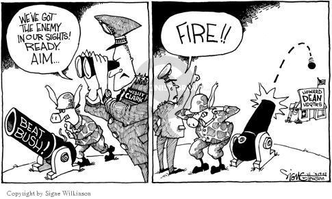 Cartoonist Signe Wilkinson  Signe Wilkinson's Editorial Cartoons 2003-09-18 2004 election