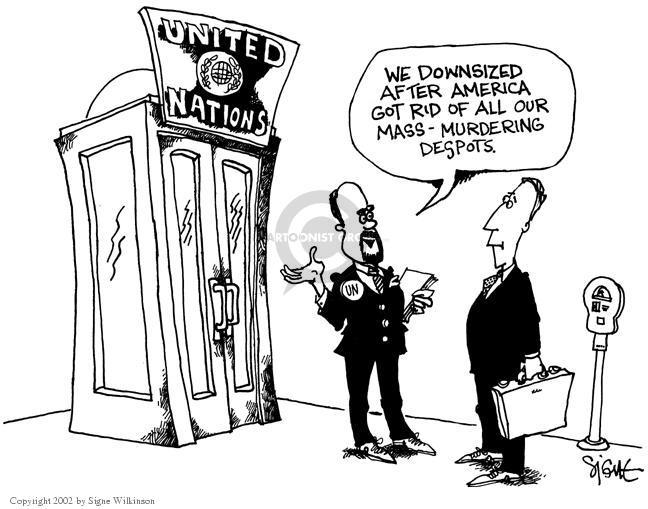 Cartoonist Signe Wilkinson  Signe Wilkinson's Editorial Cartoons 2002-09-19 invade