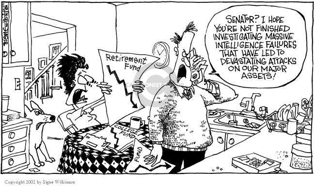 Signe Wilkinson  Signe Wilkinson's Editorial Cartoons 2002-09-20 stock market