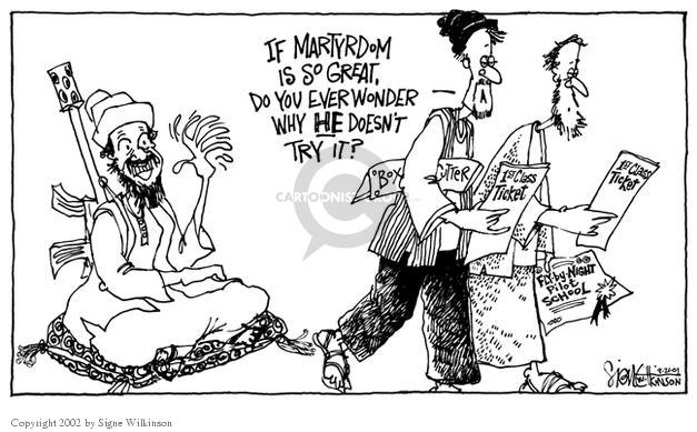 Signe Wilkinson  Signe Wilkinson's Editorial Cartoons 2001-09-21 night