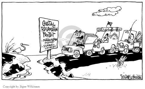 Signe Wilkinson  Signe Wilkinson's Editorial Cartoons 2003-09-23 land