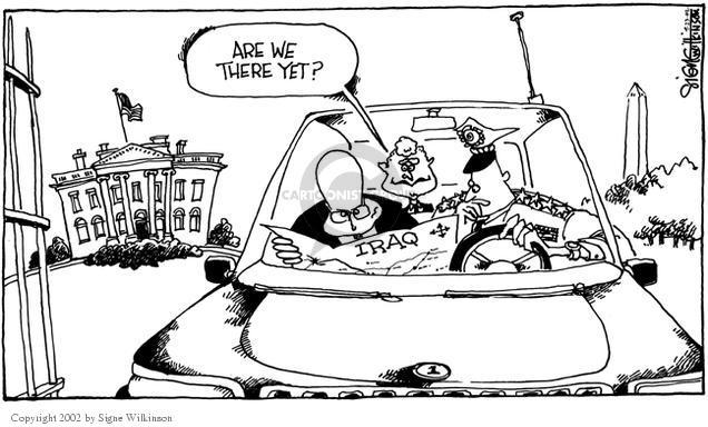 Cartoonist Signe Wilkinson  Signe Wilkinson's Editorial Cartoons 2002-09-23 military leadership