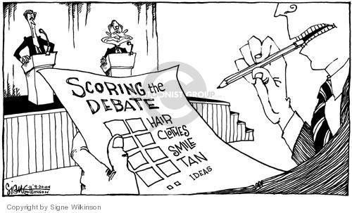 Cartoonist Signe Wilkinson  Signe Wilkinson's Editorial Cartoons 2004-09-30 idea