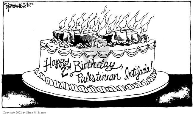 Signe Wilkinson  Signe Wilkinson's Editorial Cartoons 2002-10-04 Israel