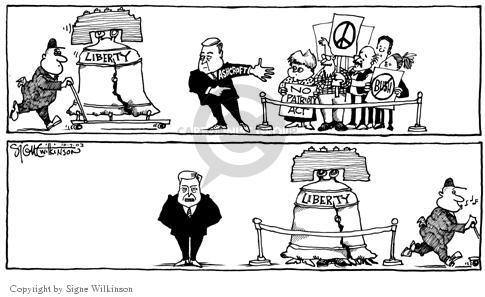 Signe Wilkinson  Signe Wilkinson's Editorial Cartoons 2003-10-07 censorship