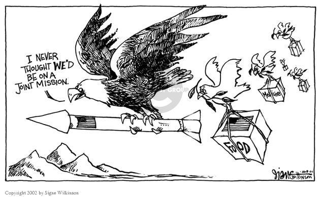 Cartoonist Signe Wilkinson  Signe Wilkinson's Editorial Cartoons 2001-10-09 rebuild
