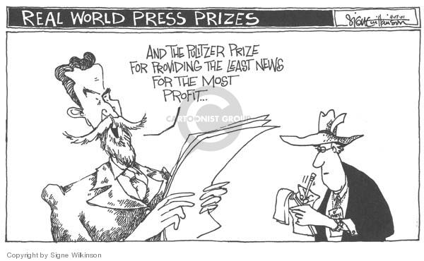 Cartoonist Signe Wilkinson  Signe Wilkinson's Editorial Cartoons 2007-04-17 real world