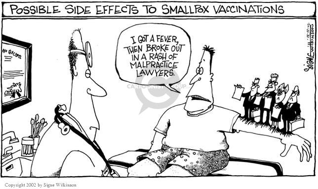 Cartoonist Signe Wilkinson  Signe Wilkinson's Editorial Cartoons 2002-10-11 vaccine