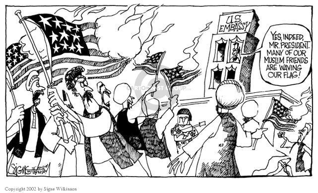 Signe Wilkinson  Signe Wilkinson's Editorial Cartoons 2001-10-12 siege