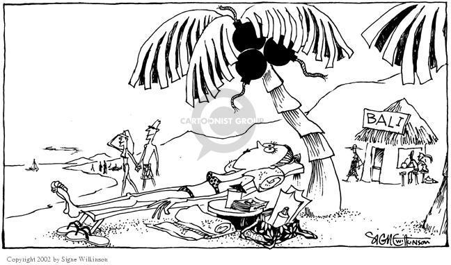 Cartoonist Signe Wilkinson  Signe Wilkinson's Editorial Cartoons 2002-10-18 terrorism