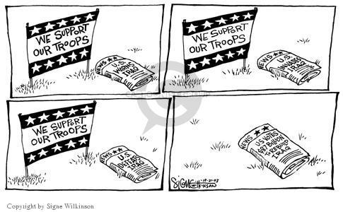 Signe Wilkinson  Signe Wilkinson's Editorial Cartoons 2003-10-21 patriotic
