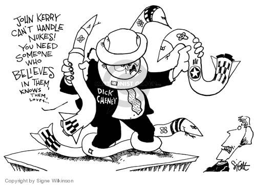 Cartoonist Signe Wilkinson  Signe Wilkinson's Editorial Cartoons 2004-10-22 candidate