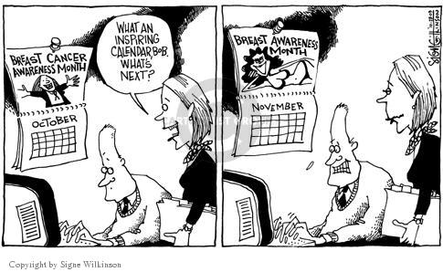 Signe Wilkinson  Signe Wilkinson's Editorial Cartoons 2003-10-28 cancer