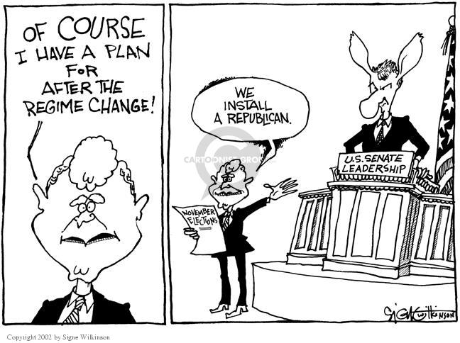 Signe Wilkinson  Signe Wilkinson's Editorial Cartoons 2002-11-01 majority minority
