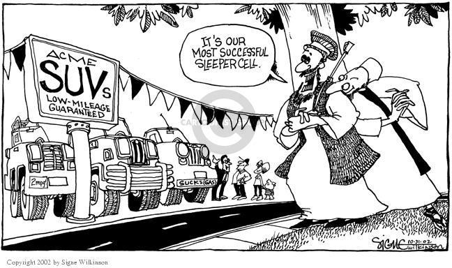 Cartoonist Signe Wilkinson  Signe Wilkinson's Editorial Cartoons 2002-10-31 support