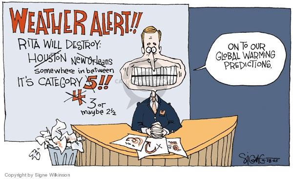 Cartoonist Signe Wilkinson  Signe Wilkinson's Editorial Cartoons 2005-09-28 alert