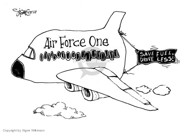 Signe Wilkinson  Signe Wilkinson's Editorial Cartoons 2005-09-30 George Bush
