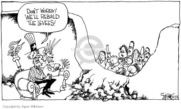 Cartoonist Signe Wilkinson  Signe Wilkinson's Editorial Cartoons 2005-10-03 rebuild