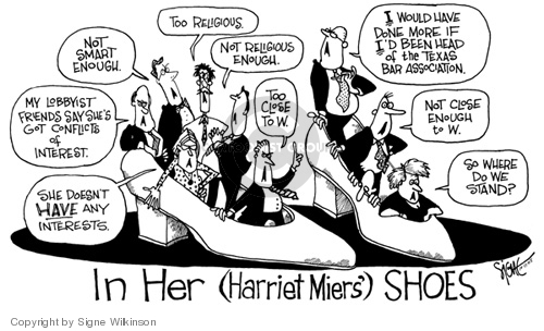 Signe Wilkinson  Signe Wilkinson's Editorial Cartoons 2005-10-11 wouldn't