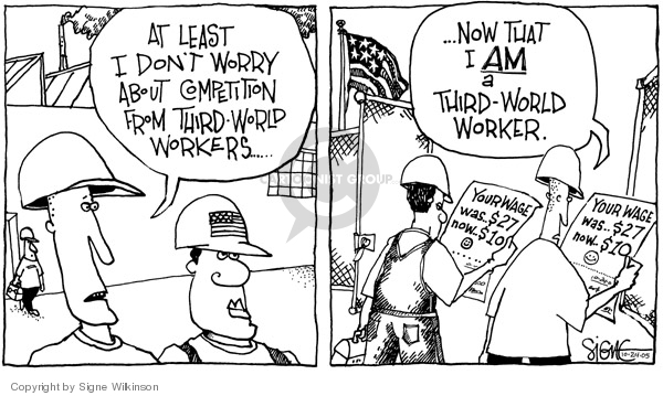 Cartoonist Signe Wilkinson  Signe Wilkinson's Editorial Cartoons 2005-10-24 cost