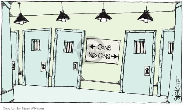 Cartoonist Signe Wilkinson  Signe Wilkinson's Editorial Cartoons 2005-10-31 CIA