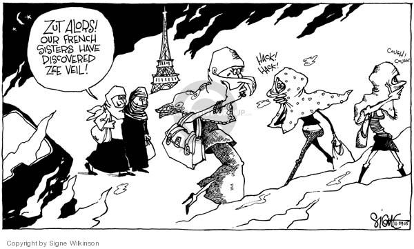 Signe Wilkinson  Signe Wilkinson's Editorial Cartoons 2005-11-09 riot