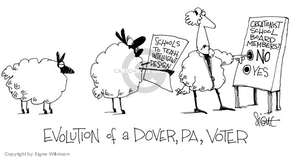 Cartoonist Signe Wilkinson  Signe Wilkinson's Editorial Cartoons 2005-11-10 theory