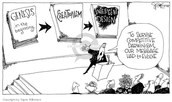 Cartoonist Signe Wilkinson  Signe Wilkinson's Editorial Cartoons 2005-11-15 theory