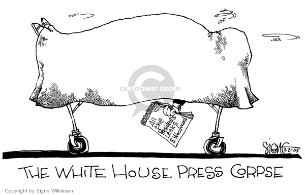 Signe Wilkinson  Signe Wilkinson's Editorial Cartoons 2005-11-21 freedom of the press