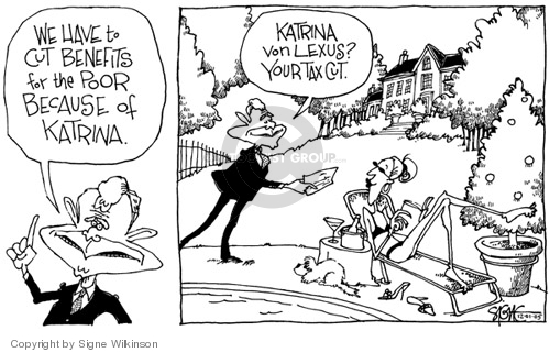 Signe Wilkinson's Editorial Cartoons - Hurricane Katrina