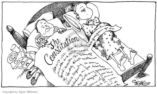 Cartoonist Signe Wilkinson  Signe Wilkinson's Editorial Cartoons 2005-12-05 full