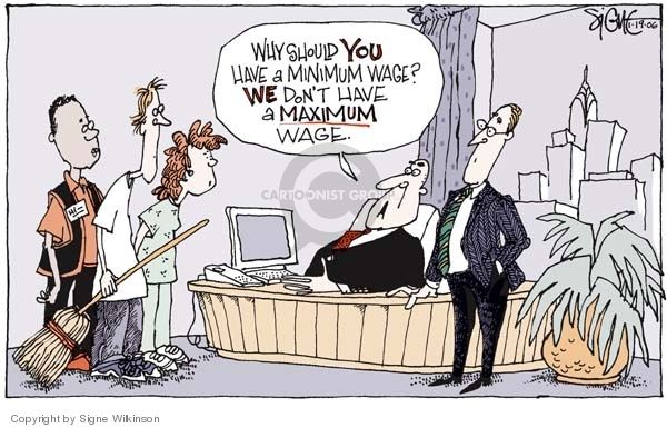 Signe Wilkinson  Signe Wilkinson's Editorial Cartoons 2006-01-19 minimum wage