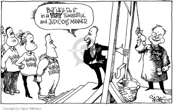 Signe Wilkinson  Signe Wilkinson's Editorial Cartoons 2006-01-20 equal rights