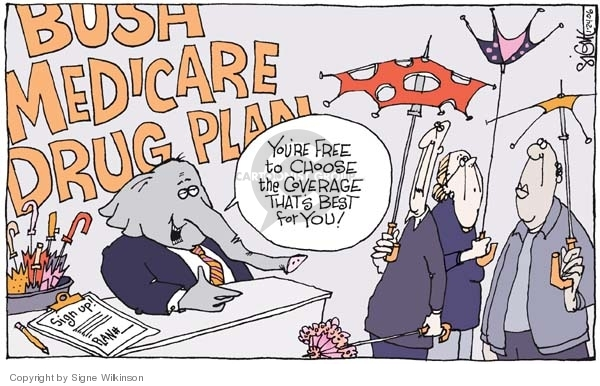 Cartoonist Signe Wilkinson  Signe Wilkinson's Editorial Cartoons 2006-01-24 health care plan