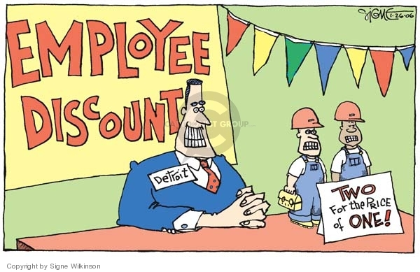 Signe Wilkinson  Signe Wilkinson's Editorial Cartoons 2006-01-26 compensation