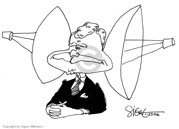 Cartoonist Signe Wilkinson  Signe Wilkinson's Editorial Cartoons 2006-01-27 executive privilege