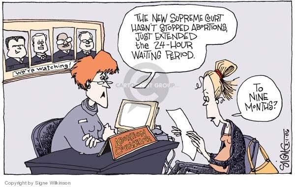 Cartoonist Signe Wilkinson  Signe Wilkinson's Editorial Cartoons 2006-02-01 Chief Justice