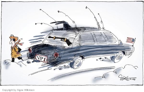 Cartoonist Signe Wilkinson  Signe Wilkinson's Editorial Cartoons 2006-02-14 gun ownership