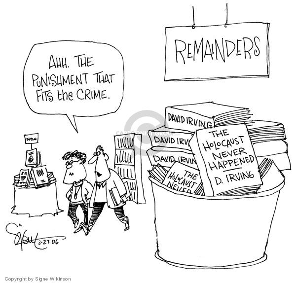 Signe Wilkinson  Signe Wilkinson's Editorial Cartoons 2006-02-27 remainder