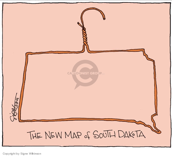 The New Map of South Dakota.  (A hanger.)