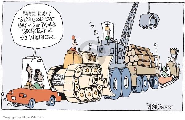 Signe Wilkinson  Signe Wilkinson's Editorial Cartoons 2006-03-15 mining