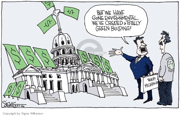 Signe Wilkinson  Signe Wilkinson's Editorial Cartoons 2006-03-27 congressional scandal