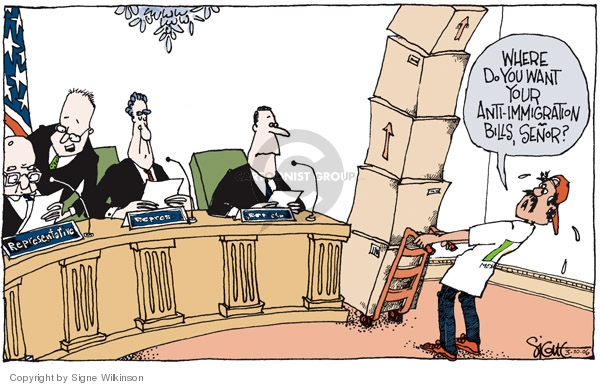Signe Wilkinson  Signe Wilkinson's Editorial Cartoons 2006-03-30 anti-immigration
