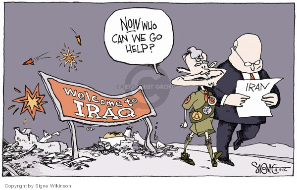 Signe Wilkinson  Signe Wilkinson's Editorial Cartoons 2006-04-11 Bush Cheney