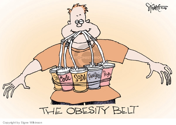 Signe Wilkinson  Signe Wilkinson's Editorial Cartoons 2006-05-09 obese