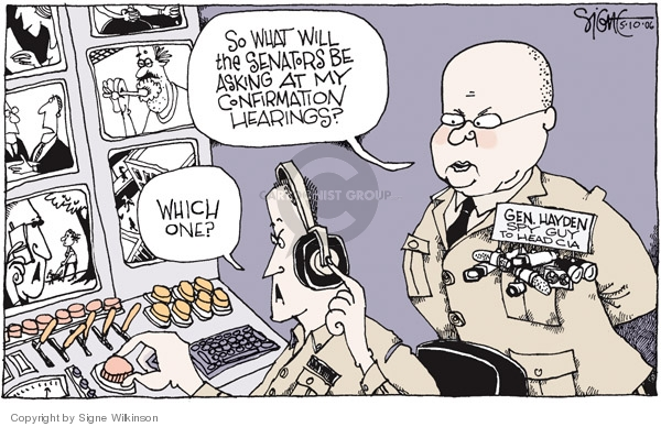 Cartoonist Signe Wilkinson  Signe Wilkinson's Editorial Cartoons 2006-05-10 CIA
