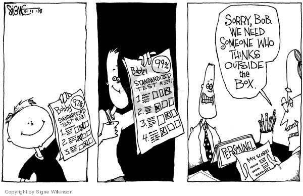 Signe Wilkinson  Signe Wilkinson's Editorial Cartoons 2006-05-11 job skills