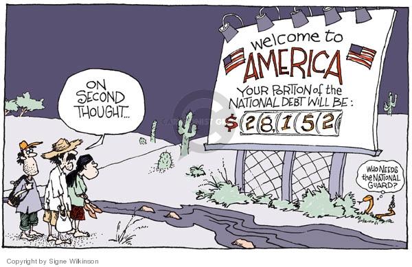 Cartoonist Signe Wilkinson  Signe Wilkinson's Editorial Cartoons 2006-05-16 national security