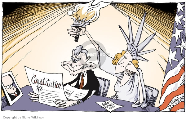 Signe Wilkinson  Signe Wilkinson's Editorial Cartoons 2006-07-03 Bush Cheney