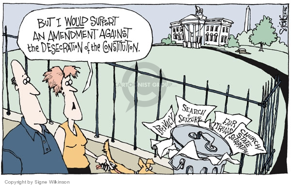 Cartoonist Signe Wilkinson  Signe Wilkinson's Editorial Cartoons 2006-07-06 Constitution